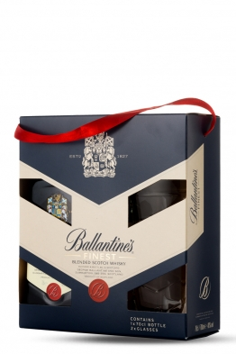 Ballantines whisky (gift box, 2 čaše)