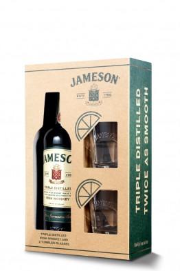 Jameson whiskey (gift box, 2 čaše)