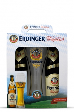 Erdinger DUO + 1 čaša za pivo PROMO-PACK