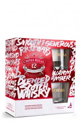 Chivas Regal 12yo whisky + 2 čaše