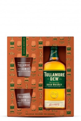 Tullamore Dew whiskey  + 2 čaše