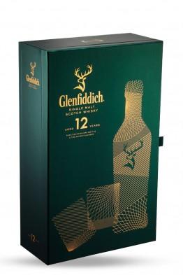 Glenfiddich 12yo whisky + 2 čaše