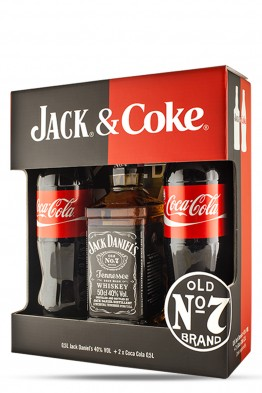 Jack Daniels whiskey + 2 Coca Cola 0,5