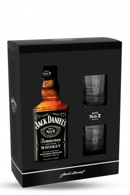 Jack Daniels whiskey + 2 čaše