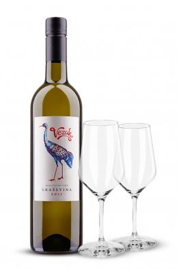 Paket 6x Vezak Graševina + set od 6 čaša za bijelo vino