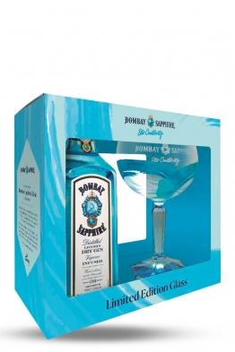 Bombay Sapphire gin + čaša