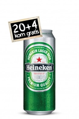 Paket Heineken svijetlo pivo 20 + 4
