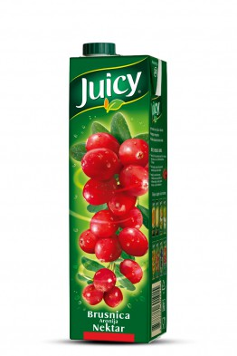 Juicy brusnica aronija nektar